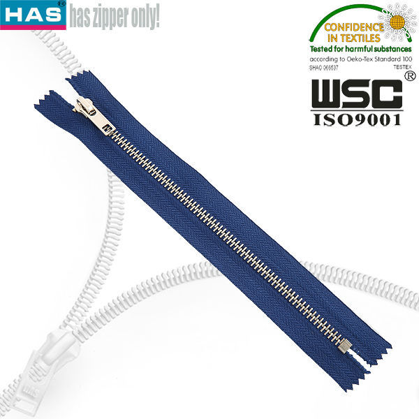 Factory wholesale good quality white gold YKK zipper