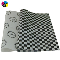 Black brand logo printing custom clothing wrapping printed tissue paper