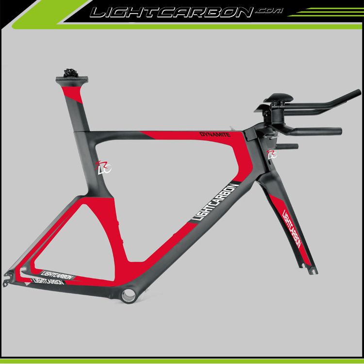 Super Aero Time Trial Carbon Frame Top Quality Factory Direct Price LCTT001 2017 Lightcarbon New Arrival