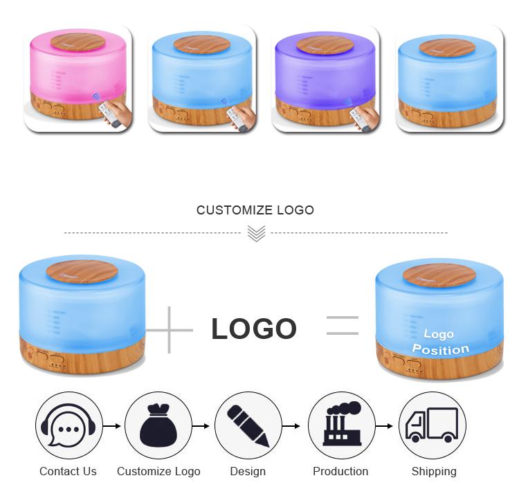 Baru Aroma Minyak Esensial Diffuser dengan WIFI Bluetooth Speaker Listrik Aroma Humidifier