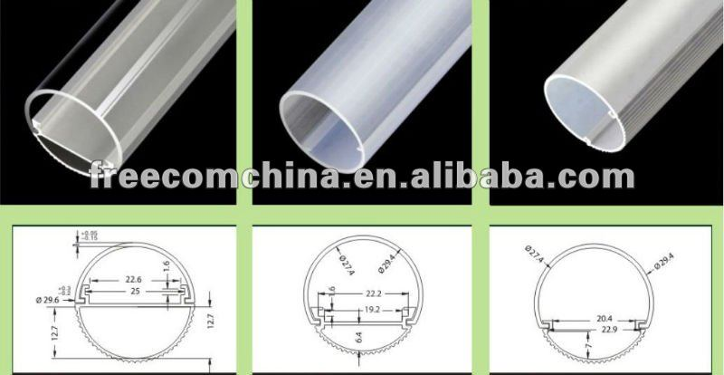 90mm 120mm 150mm t5 t8 t10LED aluminum tube light profile