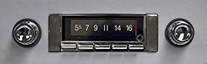 1963-1964 Chevrolet Impala 300 watt Custom Autosound USA-740 AM FM Car Stereo/Radio with built-in Bluetooth, AUX Inputs, Color Change LCD Digital Display