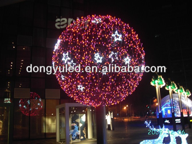 Giant Led Christmas Ball Outdoor Lighting Hanging Balls Light ...