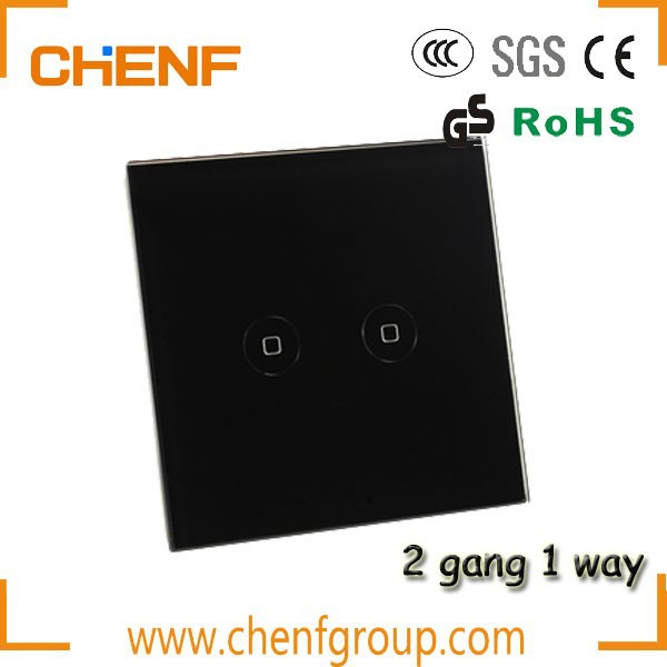 Hot Sell Cheaper 2 Gang 1 Way Wall Touch Screen Switch