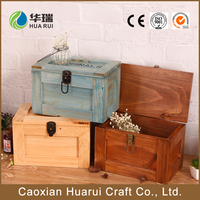 Cheap vintage handmade wood gift crate