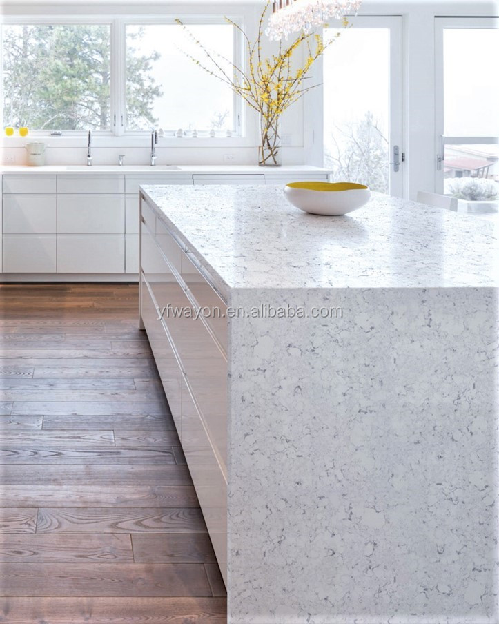 Arabesecato wg377 white quartz slab specialize in quartz for Quartz countertop slab dimensions
