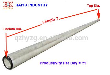 Concrete Electric Pole Steel Moulds/ Concrete Poles Manufacturing  Plant/concrete Spun Pole Making - Buy Concrete Pole Steel Mould,Concrete  Pole