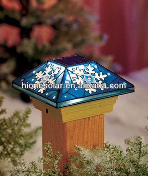 Snowflake Led Solar Christmas Light Post Cap Lighting - Buy Led ...