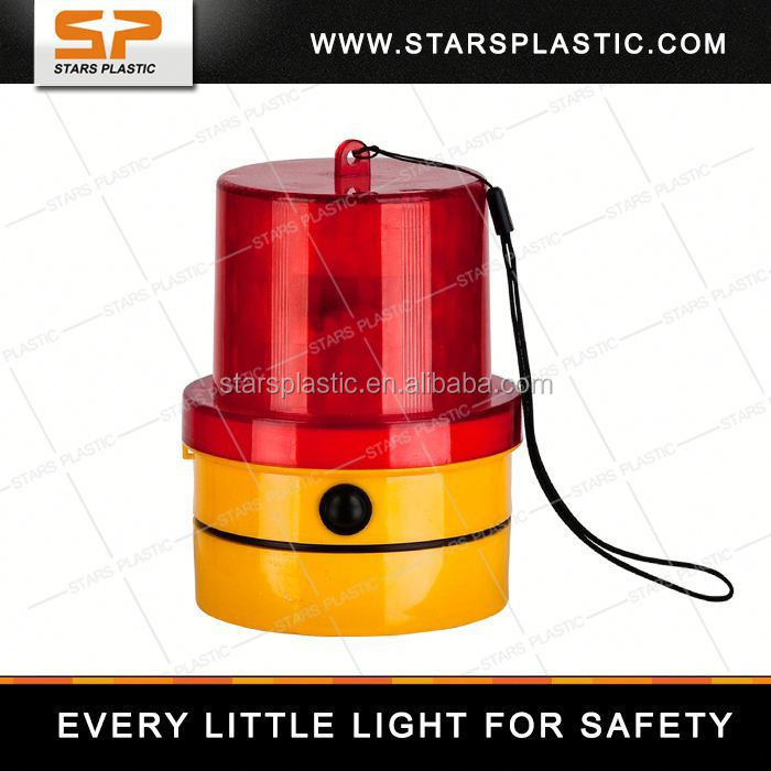 cone solar led warning light