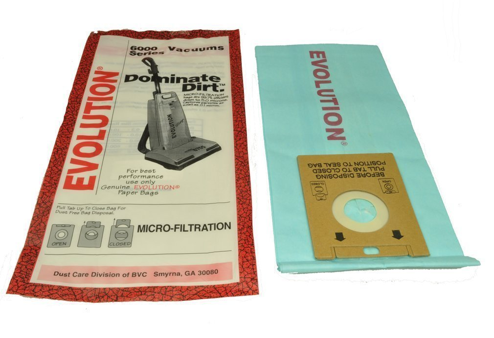 Evolution Bernina Type U Upright Vacuum Micro 2 Pack 10 Micro Bags # 01-2405-01