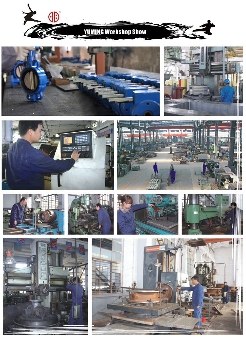 Wafer Type Soft Seal Butterfly Valve Dn 200