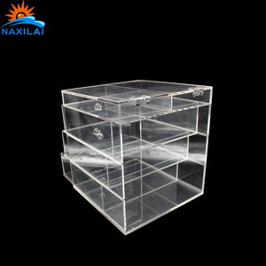 New Style Acrylic Makeup Organizer 8 Clear Acrylic Box Wedding Wishing Well Box