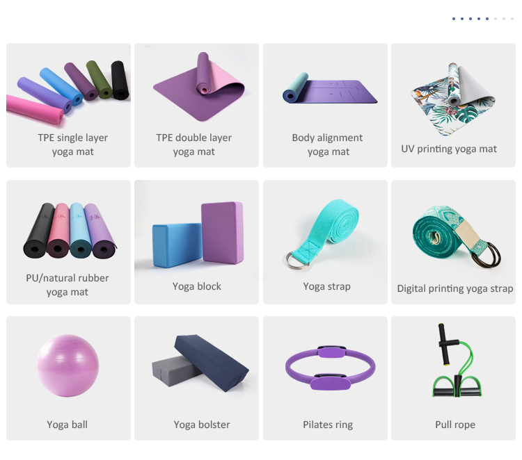 eco tpe yoga mat non slip 6mm, custom yoga mat, fitness mattress