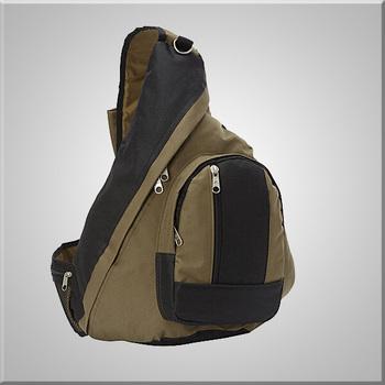 cc70c14815 Sling Backpack Zippered Mesh Pocket Contoured Sling Shoulder Strap ...