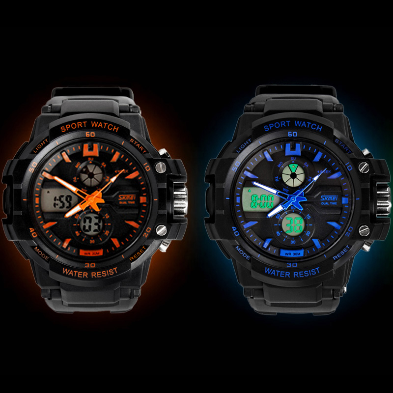 SKMEI Genuine men's multi functional fashionable trend exquisite Sports Luminous electronic watches