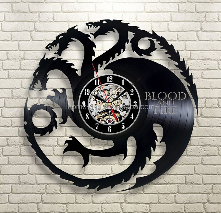 Smart Clock Vinyl Cd Record Wall Clocks Funny Designs Cat