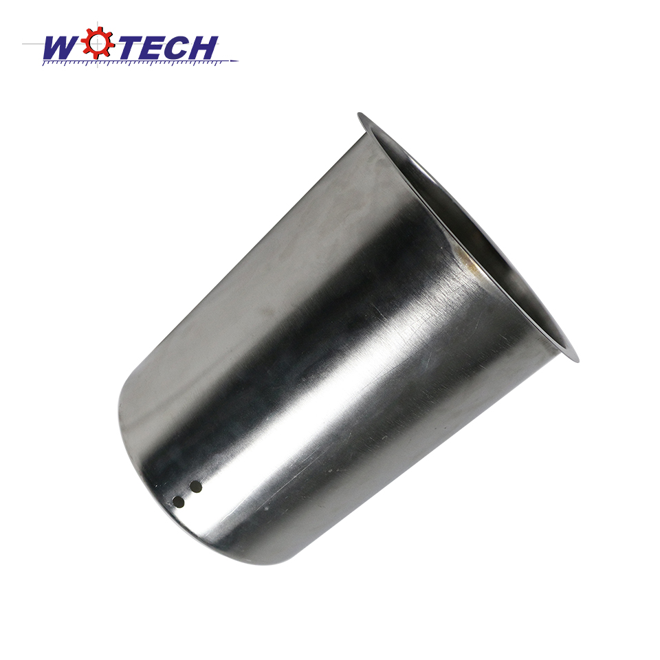 Brushed metal stainless steel 304 deep drawing inner can for machine