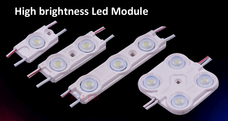 High brightness backlit lighting 0.48w 12v 45lm smd 2835 waterproof injection led module ul