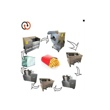 French Fries Processing Making Pringle Potato Chips Frying Machine