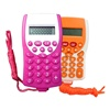 Fancy Kid's Promotional Handheld 8 Digit Pocket Gift Calculator With A Rope