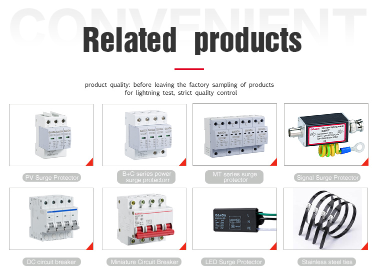 Factory supply circuit breaker 220v surge protector with Promotion price
