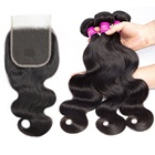YueXiu Hair Good Feedback Chinese Hair Vendor Frontal Lace Closure With Bundles