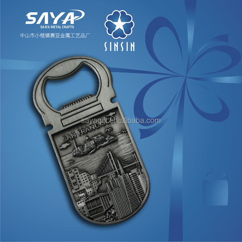 San Francisco souvenir bottle opener with free design