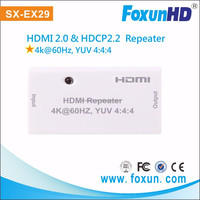 SX-EX29 Mini Repeater 18Gbps HDMI 2.0 Products HDMI total 25m when 4k2k@60hz YUV 4:4:4 HDMI Repeater Extender