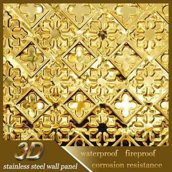 Best Selling Luxurious Stainless Steel 3d Pattern Wall Covered ...