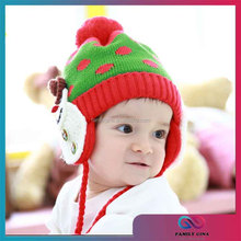 Wholesale New Arrival Cute Baby Knitted Snowman Hat