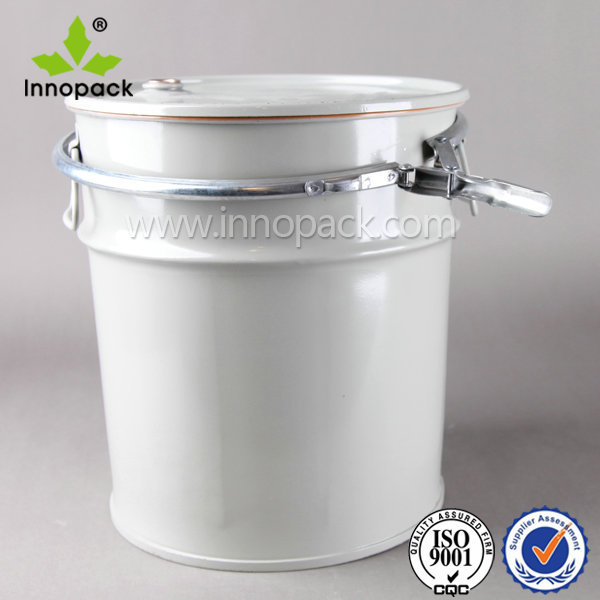 45l Solvent Airtight Metal Bucket With Lock Ring Lid And