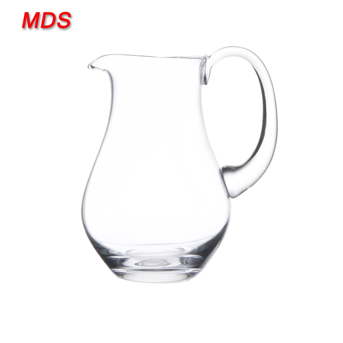 Heat resistant borosilicate decorative hot water glass pitcher