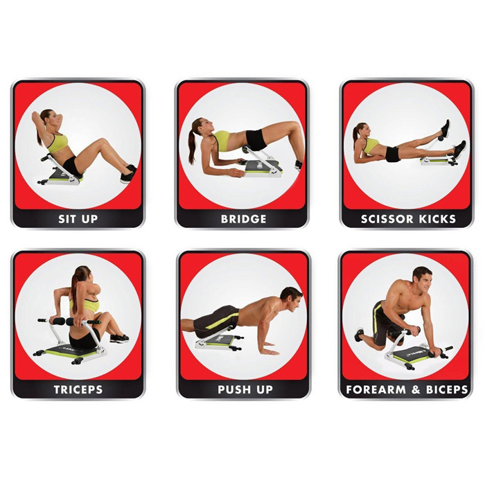 Multi-function fitness Ab machine exercise