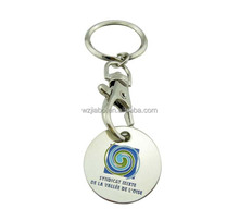 custom metal logo coin trolley token for wholesale