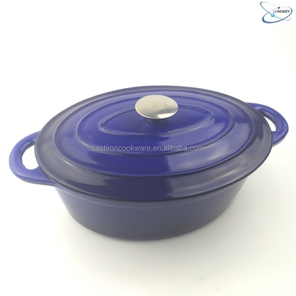 Wholesale Enamel Oval Cast Iron Dutch Oven with LFGB FDA