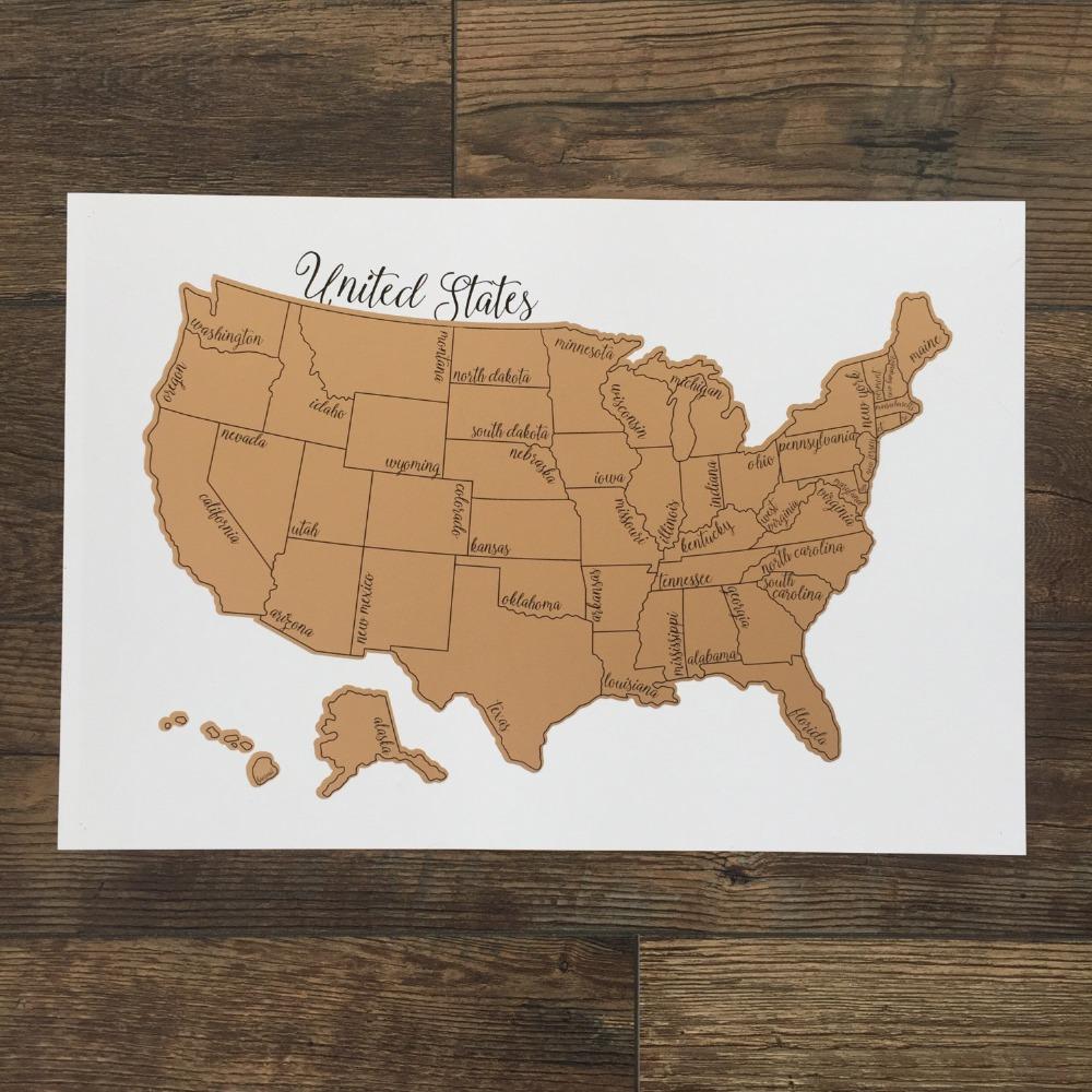 2017 Exploration Travel Logue Reise Amerika Bildung USA Scratch Map ...