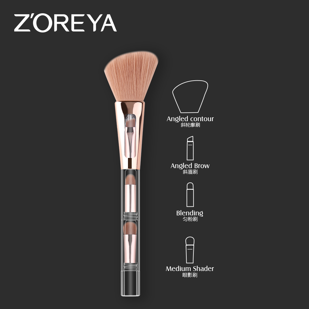 Good Price Newest 4 In 1 Brush Branded Portable Custom Made Makeup High Quality Make Up Brushes Professional