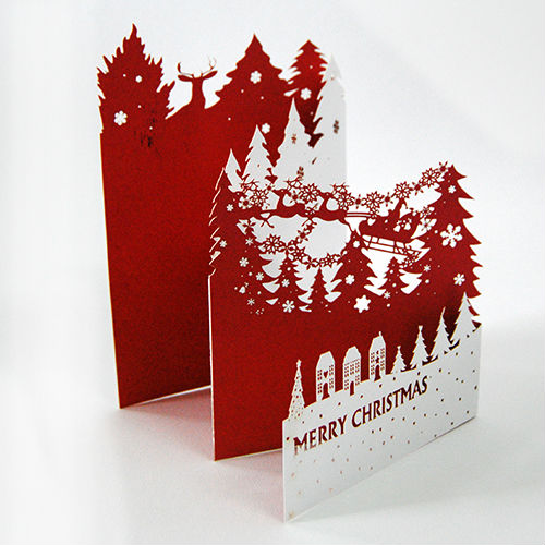 2016 Popular Laser Cut 3d Pop Up Paper Baptism Invitation Card ...