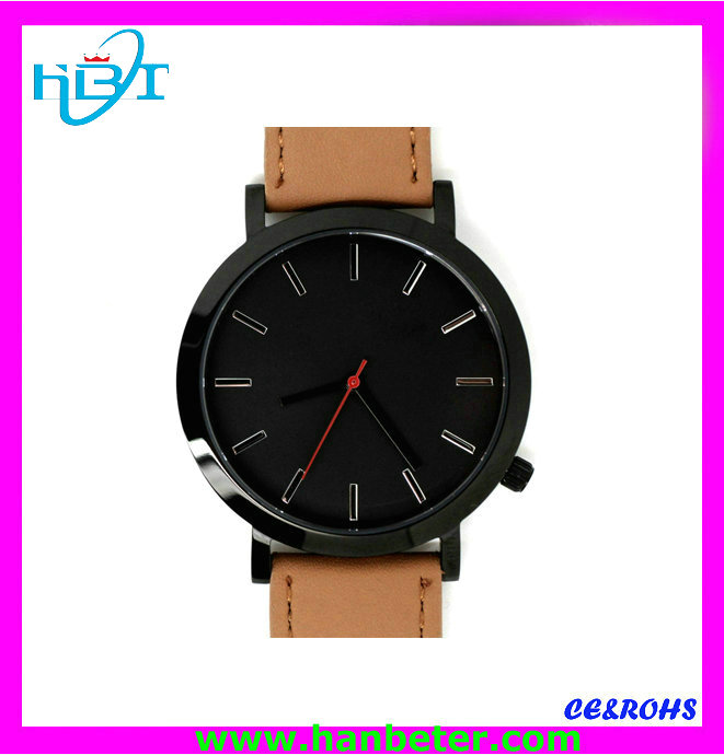 2014Made in CHINA 316stainless steel back 5ATM waterproof men watch mechanism