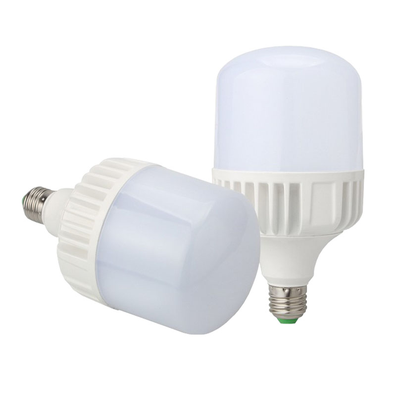 Full power cheap price high power 50W dimmable ultra bright E27 led bulb with plastic cover 220v  T type column bulb light