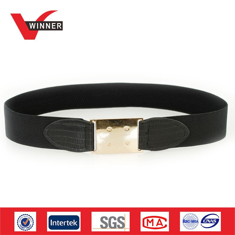 OEM Factory Made Fancy Ladies Wide Elastic Belts