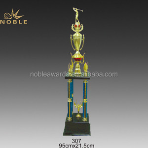 High Quality Wholesale Large Size Metal Golf Trophy Cup