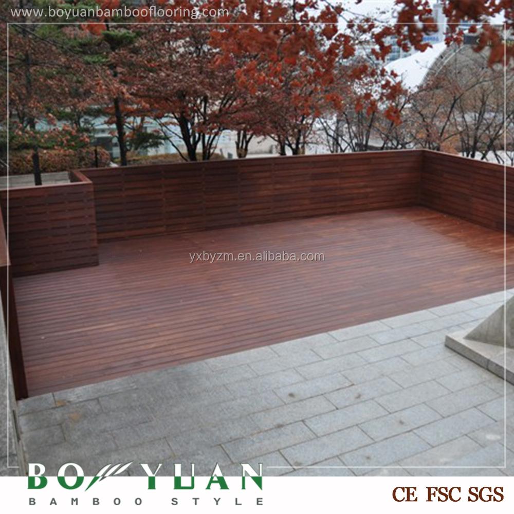 Olio superficie decking di bamb prezzo pavimenti per for Cannette di bambu prezzo