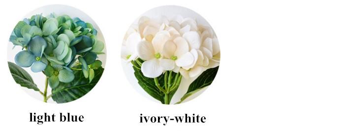 โรงงานที่มีคุณภาพสูงโดยตรงที่ถูกกว่ารุ่นใหม่ล่าสุดแต่งงานดอกไฮเดรนเยียดอกไม้ประดิษฐ์สำหรับตกแต่ง