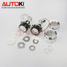 Autoki 2.0inch Hid Motorcycle Projector Lens Light Double Light Hid Xenon H1 H4 H7 Mini Hid Headlight