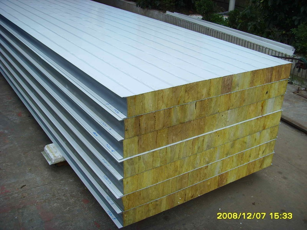 Isolation Materials Rock Wool Sandwich Panel For Building