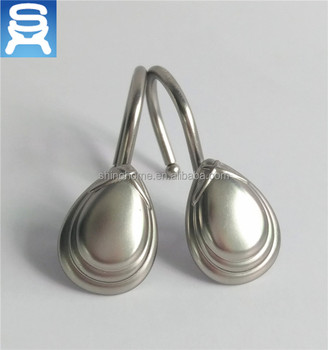 Shower Curtain Rings Hooks Metal Double