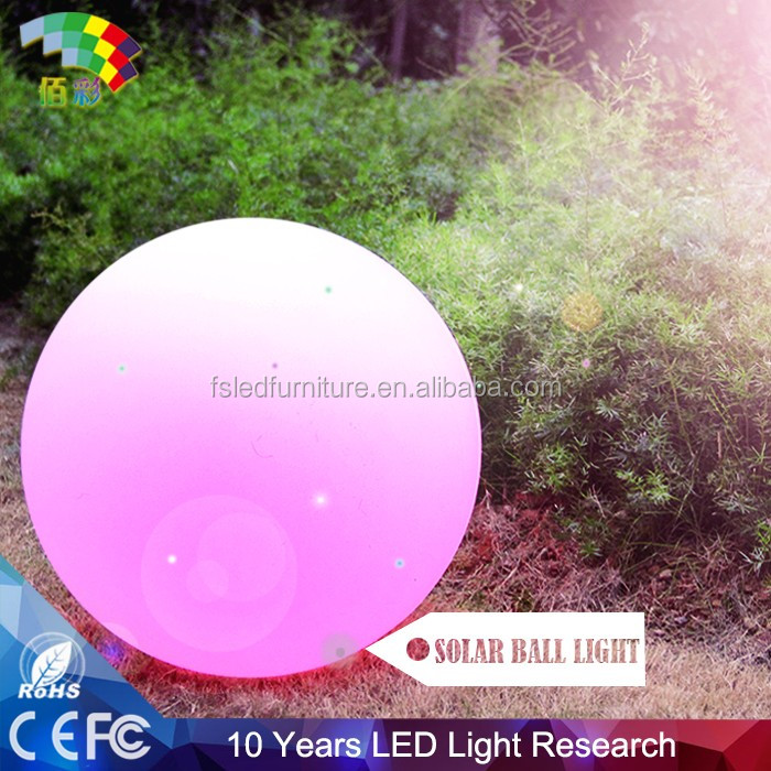 IP65 Outdoor sphere design Solar LED Decorative Light 30CM