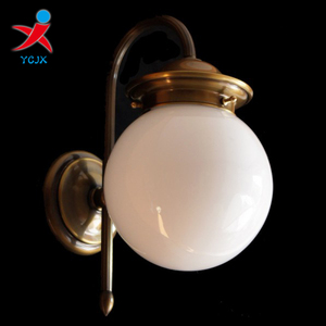 outdoor wall lighting with opal shiny glass ball lampshade /glass globe light covers
