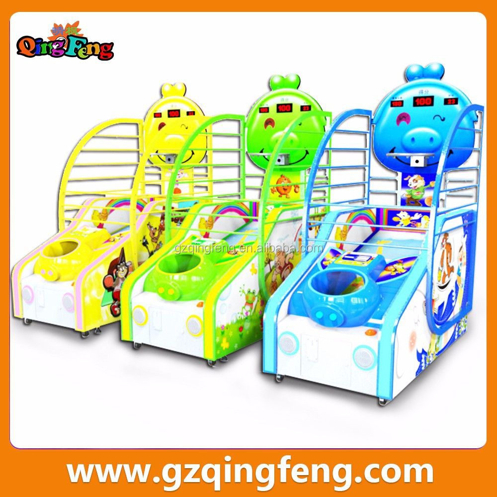 Qingfeng company wholesale electric children basketball games machine in Guangzhou